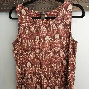Ann Taylor burgundy paisley print blouse